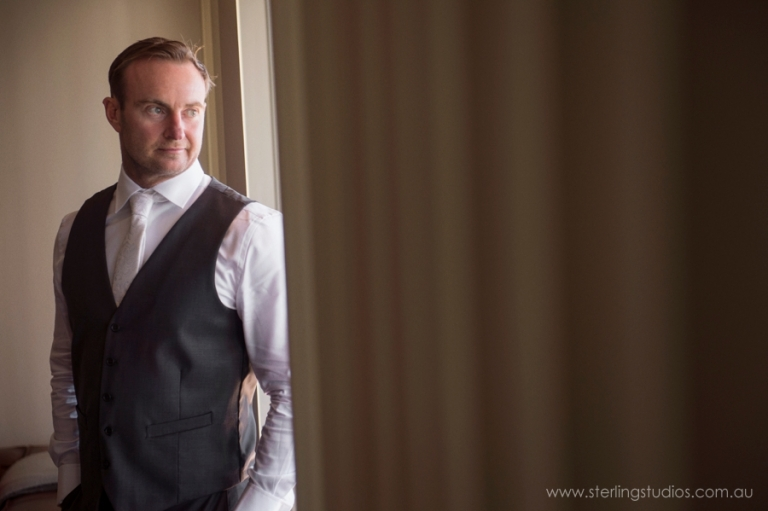 Brisbane wedding photographer grooms preparation